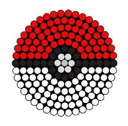 Pokéball  pokemon bola template, diseño, molde, plantilla, abalorios, calor, hamma, hama, perler, beads,  patterns, patron, diy, hecho en casa, hazlo tu mismo, niños, manualidad, crafts, actividad, vacaciones, muristar.com, animado, animate, tutorial,
