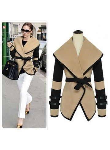 BELTED CARDIGAN: can you image this coat without the belt?! Without it she would look like a box.