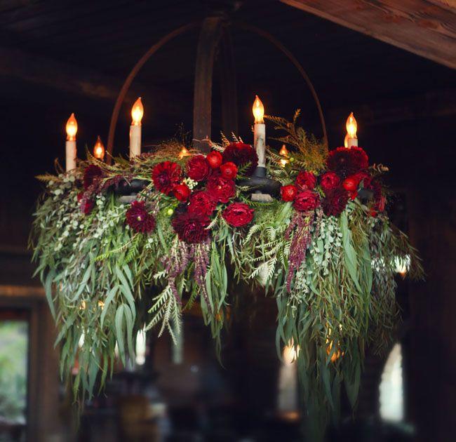 floral garland chandelier