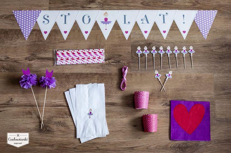 Birthday decorations for every ballerina. By Cudowianki.