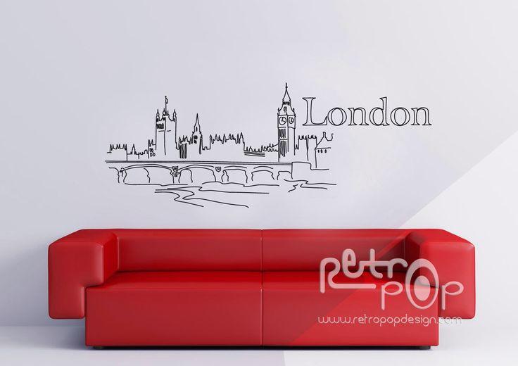 Londres dibujada, mas info en www.retropopdesign.com Bogotá Colombia.