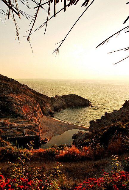 Ikaria island Greece,Nas river and beach