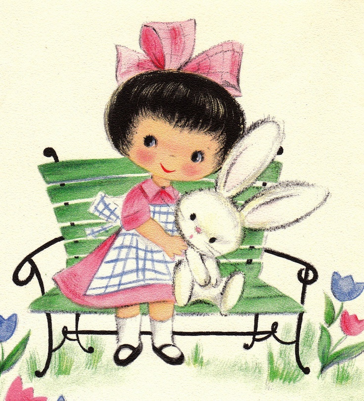 This Framed Would B Lovely...Vintage 1950s Thinkin Of You At Easter Greetings Card