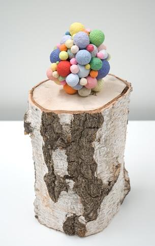 Charles Sofo: paper pulp balls