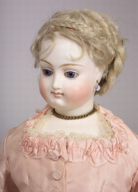 EARLY BRU FRENCH FASHION DOLL WITH COSTUME HISTORY, PARIS, C. 1870S, COBALT BLUE STATIONARY GLASS EYES, LIGHT BROWN FINELY LINED EYEBRO - SCIENCE & TECHNOLOGY / TOYS & DOLLS - SALE 2345 - LOT 709 - Skinner Inc: