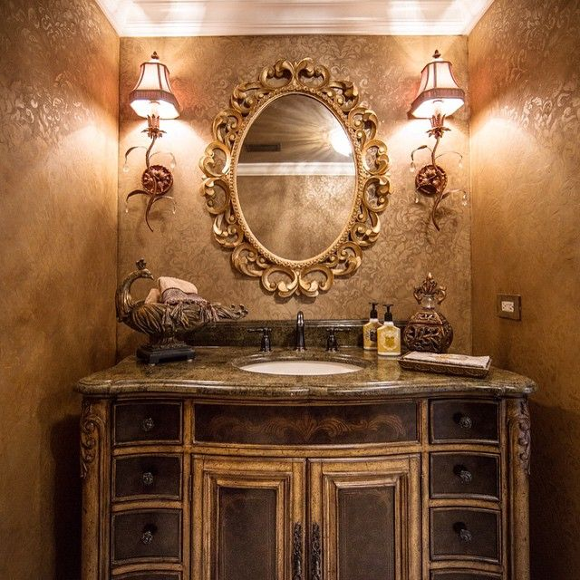 A small space like a powder room is the perfect place to experiment with big and bold style!
