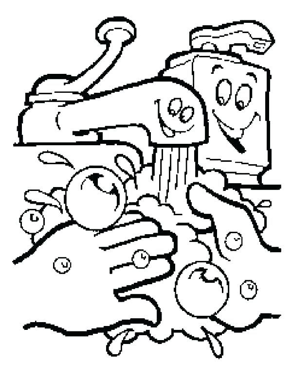 Fresh Hand Washing Coloring Pages Free Coloring Pages Cartoon