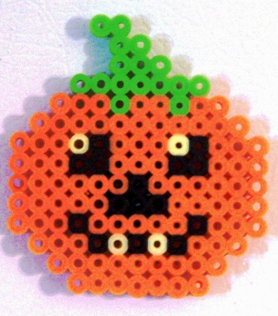 Pumpkin Bead Magnet is just in time for the holidays! BEAD MAGNET Halloween or Thanksgiving by CreativeXpression1, $4.00
