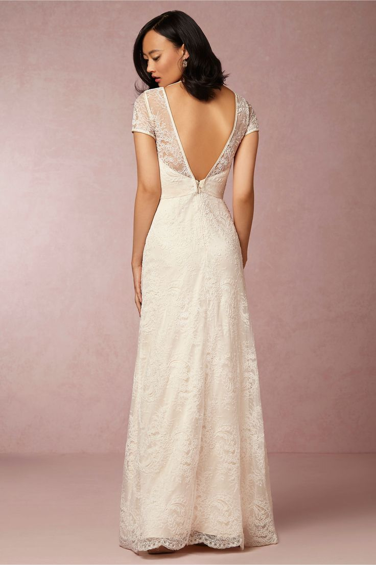 avery gown in bride wedding dresses back detail at bhldn