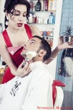 Photographer: Luca Iafrate MUA & Hair stylist: Elisabetta Jiritano Models: Valentina Leone e Piergiuseppe Albamonte Dress styling: BloodyEdith Atelier Location: Floid la Barberia