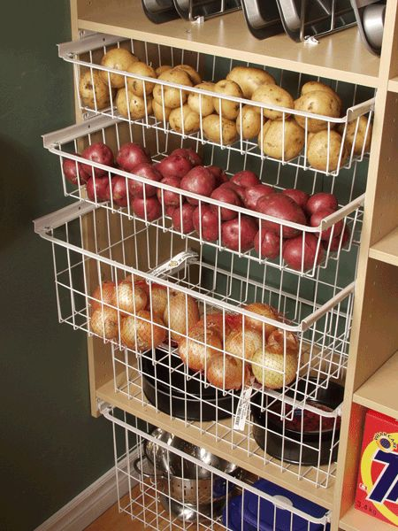 Love these baskets, but would need them in more than one location in the pantry as potatoes and onions shouldn't be stored near each other
