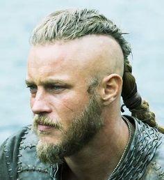 Ragnar Lothbrok long hair undercut hairstyle photograph