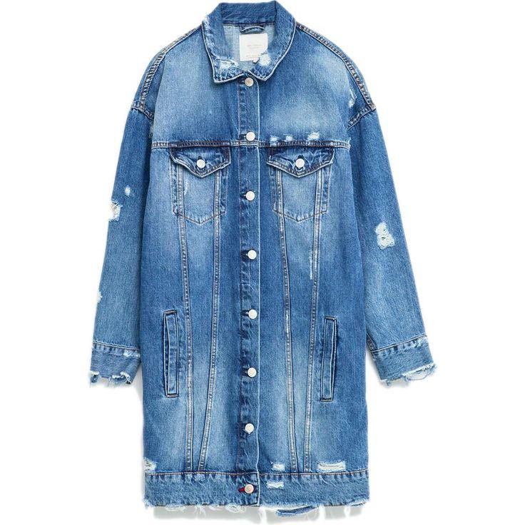 Zara Longline Denim Jacket as seen on Selena Gomez