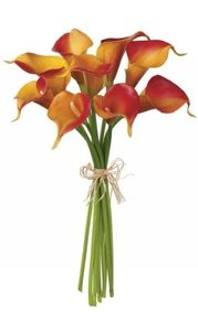 Calla lily bouquetCalla Lilies Bouquets, Orange Calla, Flower Bouquets, Pretty Colors, Jewels Flower, Bouquets Options, Small String, Rustic Ribbons, Calla Lilies I