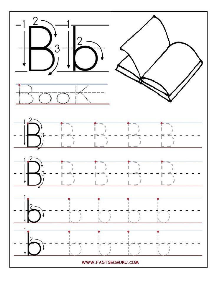 letter b worksheets for preschoolers | Printable letter B tracing worksheets for preschool