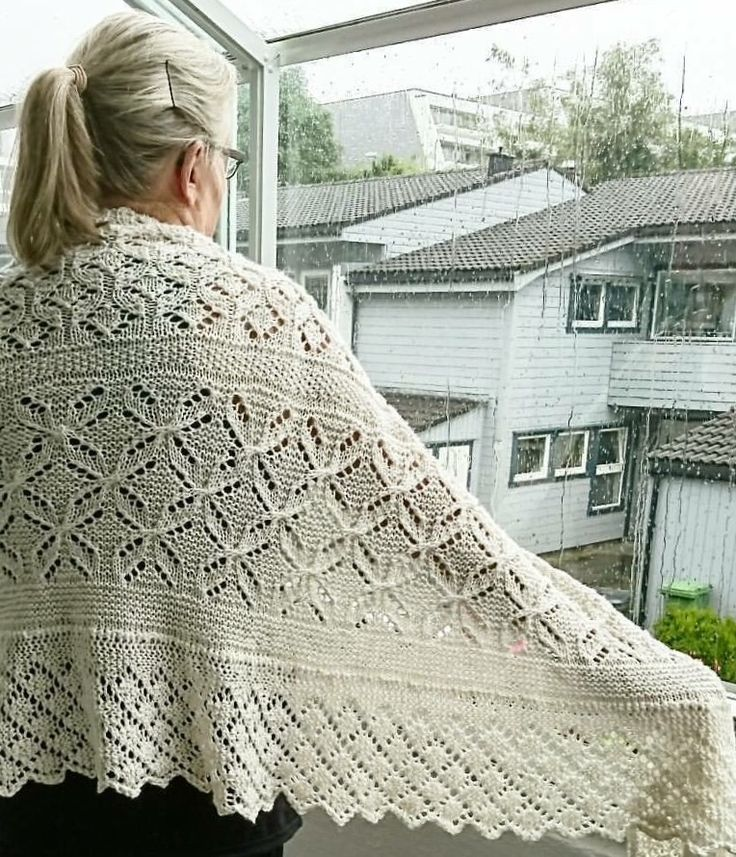The LACELOVER Shawl by Helle Slente Design, beautifully knitted by Janne Malin of Norway