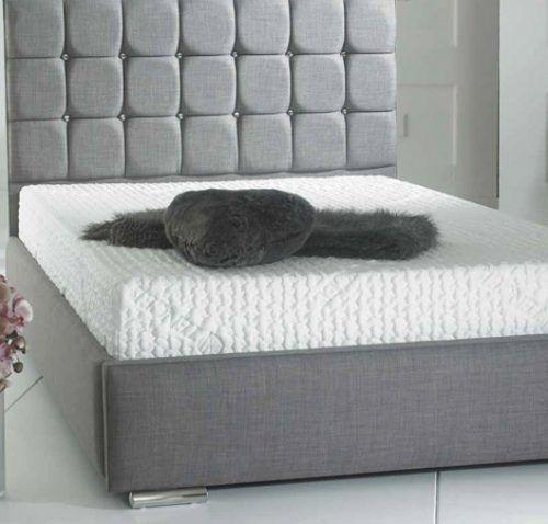 Cuba (Double) Fabric Bed - SALE  #bed #bedroom #ideas #fabric #inspiration #grey #SALE