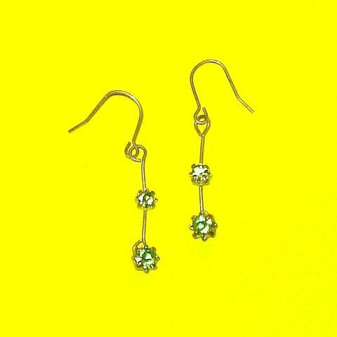 Peridot Dangle Earrings - Mookie Designs Vintage
