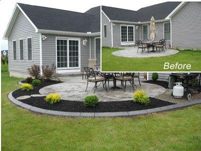 Cement Backyard Ideas concrete backyard ideas designideias Garden Design Garden Design With Rubber Landscape Borders