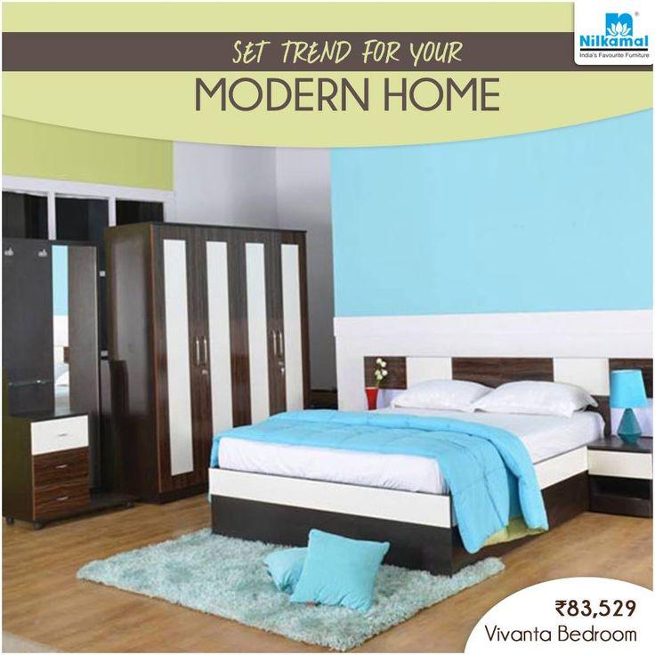 Bring Home The Fashionably Elegant And Stylish Bedroom Set! #Nilkamal # Bedroom #Set
