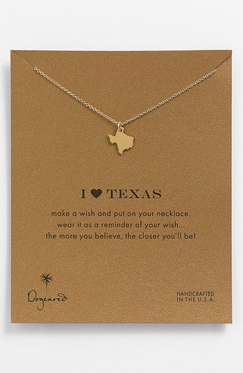 Dogeared 'Reminder - I Heart Texas' Boxed Pendant Necklace available at #Nordstrom