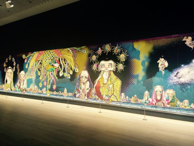 What is a wonderful Exhibition of Murakami Takashi in Tokyo!