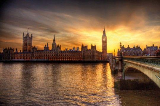 Londyn Big Ben i Parlament - plakat