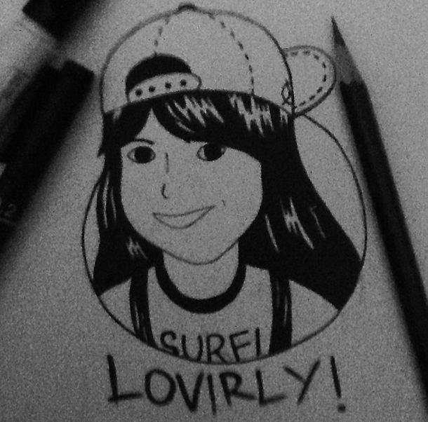 this is si Alis artwork ,lucu ya :D  so happy to have this picture