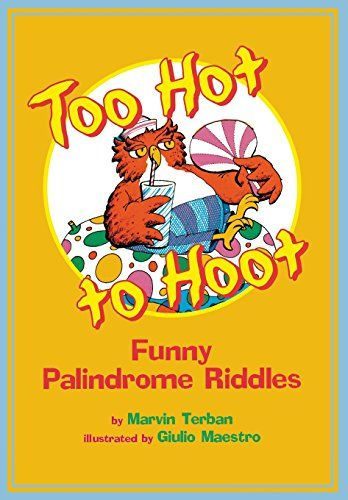 Worksheets Palindrome Riddles Worksheet too hot to hoot funny palindrome riddles by marvin terban palindromes pinterest and riddles