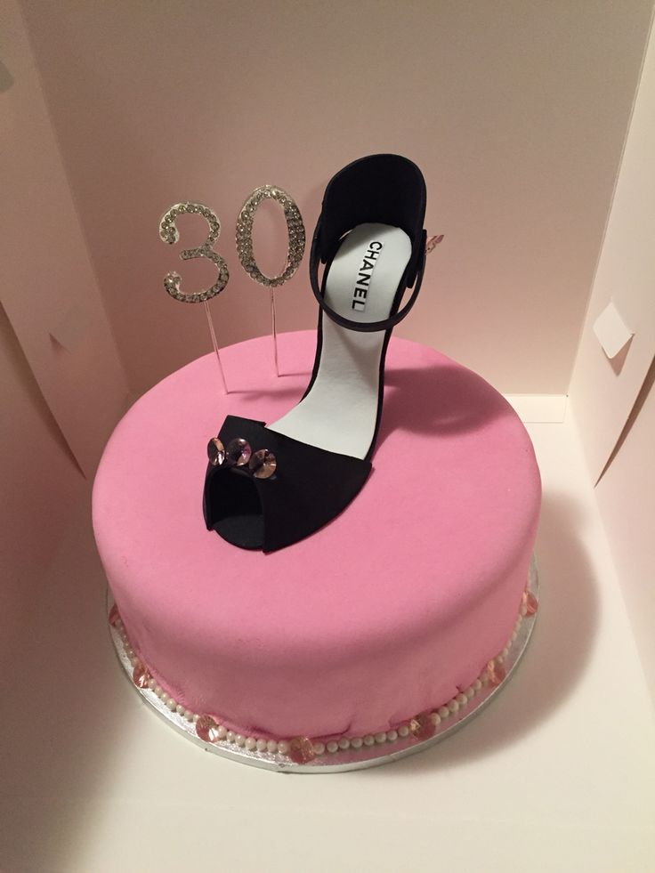 Shoe cake made for a friend's birthday