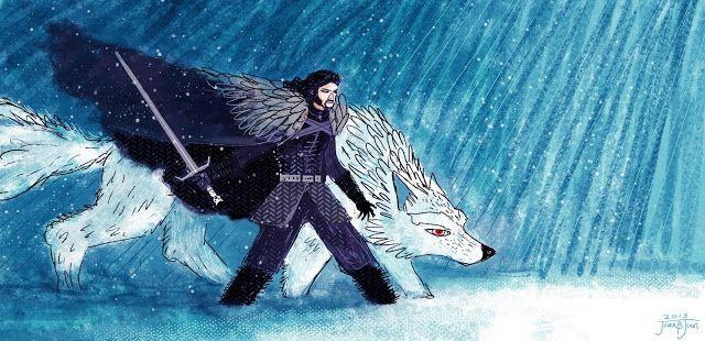 juanbjuan children illustration: john Snow and Ghost
