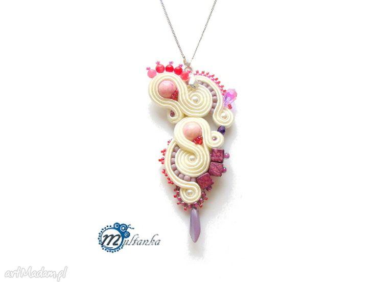 Evenstar wisior sutasz soutache ślubny romantyczny naszyjnik wykonany techniką według  #wedding #sutasz #soutache #pendant #wisior