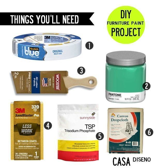 Furniture Paint Project Casa Basics: How to Refinish Furniture
