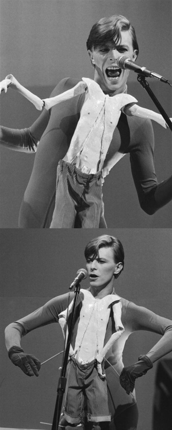 "David Bowie....performing with puppet for ""Boys Keep Swinging"" - Saturday Night Live, 1979....."