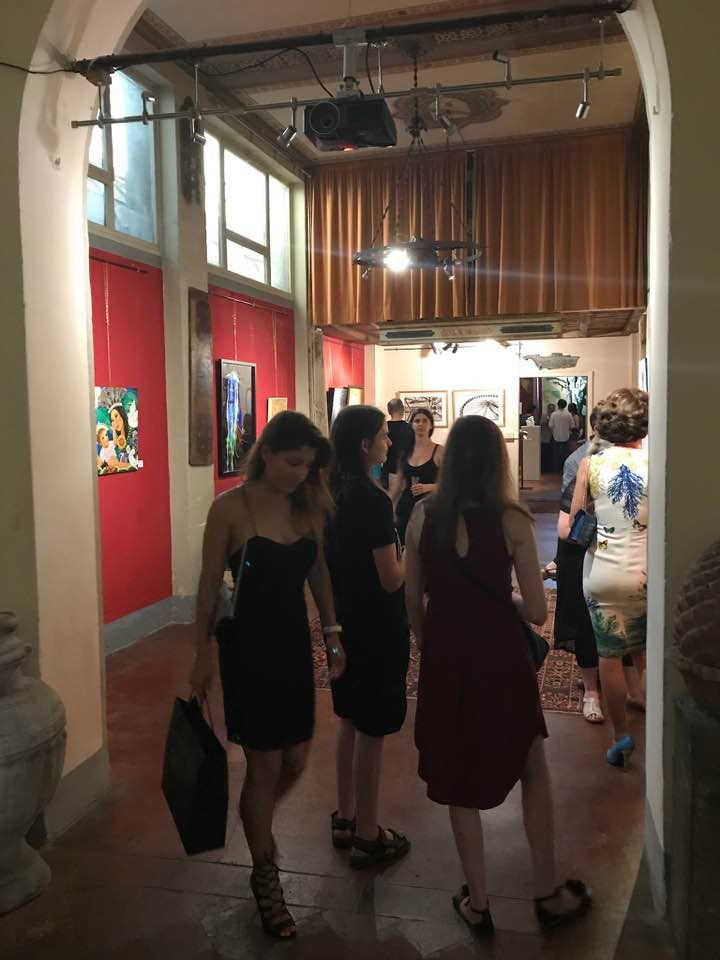 Alcune immagini di panoramica opere e della serata inaugurale della mostraThe nuance of dreams, le ombre di Giotto, la quale si è conclusa con grande successo e apprezzamenti da parte del pubblic…