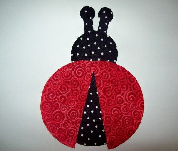 Fabric Applique TEMPLATE ONLY Ladybug by etsykim on Etsy, $1.50