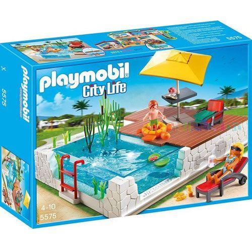 Precio 23 95 3 99 env o playmobil 5575 piscina - Piscina playmobil amazon ...