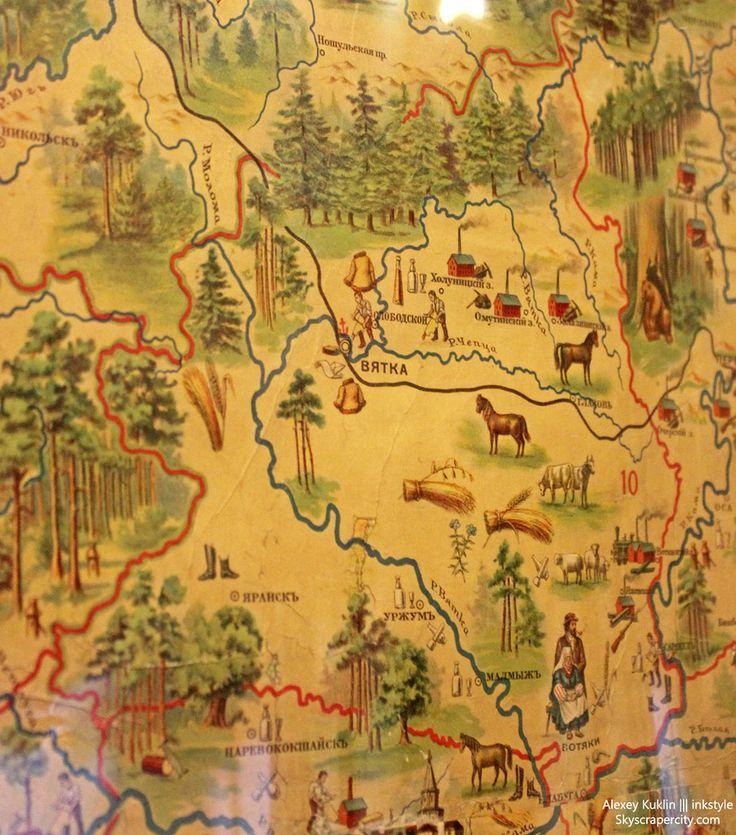 Вятка на карте 1903г