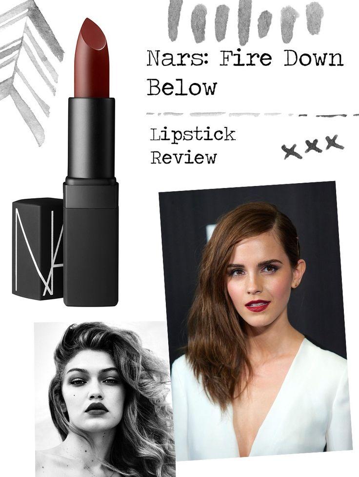 Nars Lipstick Review: Fire Down Below Makeup