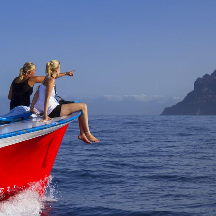 Avistamiento de cetáceos en La Gomera. Islas Canarias.