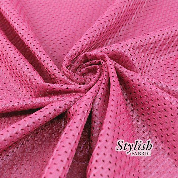 Hot Pink Football Mesh Knit Fabric by the Yard by StylishFabric, $3.90