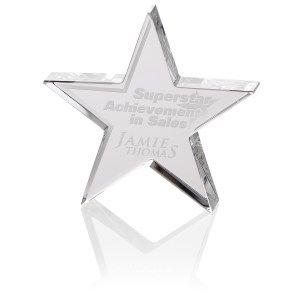 Your star-studded event requires an aptly-shaped custom award!