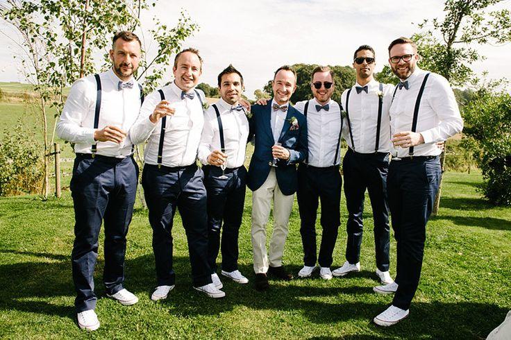 Bow Ties Braces Groom Groomsmen Converse Colourful Fun Mexian Fiesta Wedding http://lilysawyer.com/