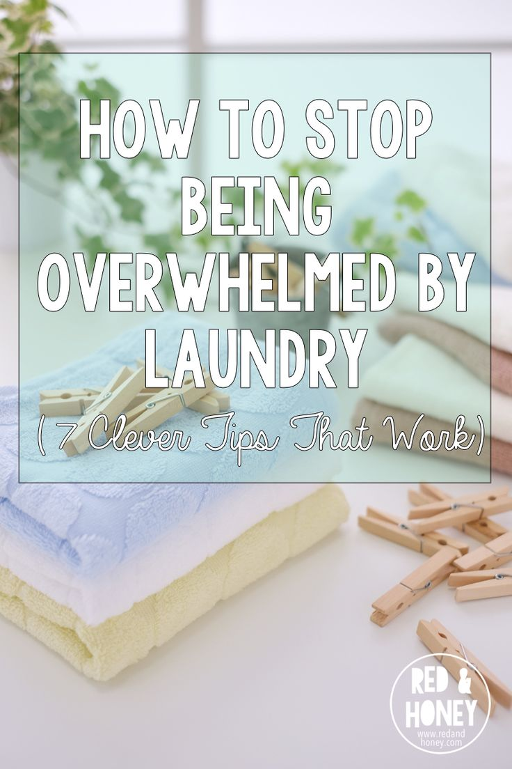 Be overwhelmed no more! This laundry system is the key to staying on top of those piles of dirty clothes.