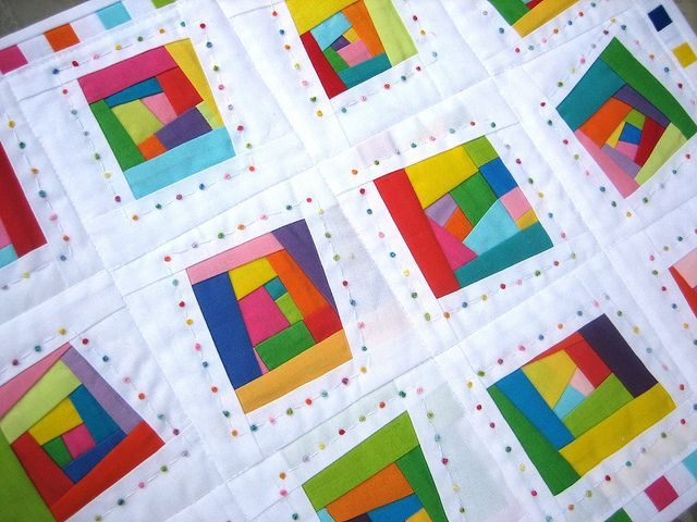 Maybe for my solids bee. How fun is this hand-quilting?!