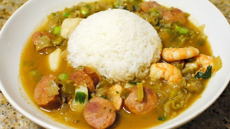 Gumbo, zuppa di gamberi e andouille e okra, ricetta originale americana