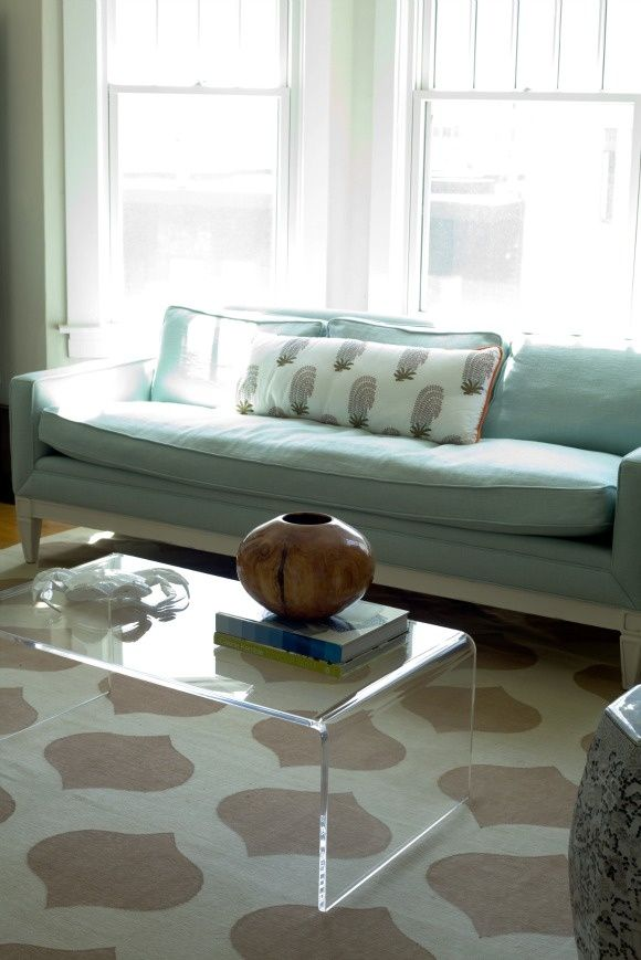 Daly Designs  Transparent furniture significantly reduces the cluttered/small feeling in a room