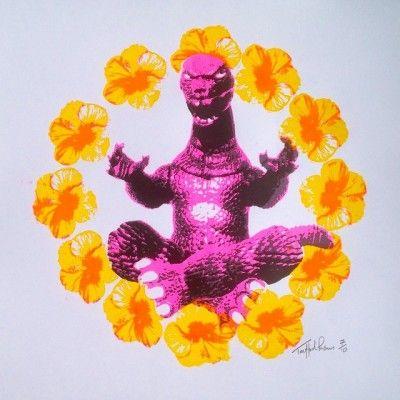 Zen Godzilla Pink/Yellow By Trafford Parsons