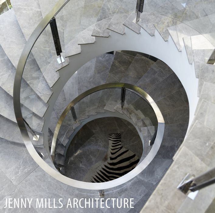 stairs, staircase, marble tiles, spiral