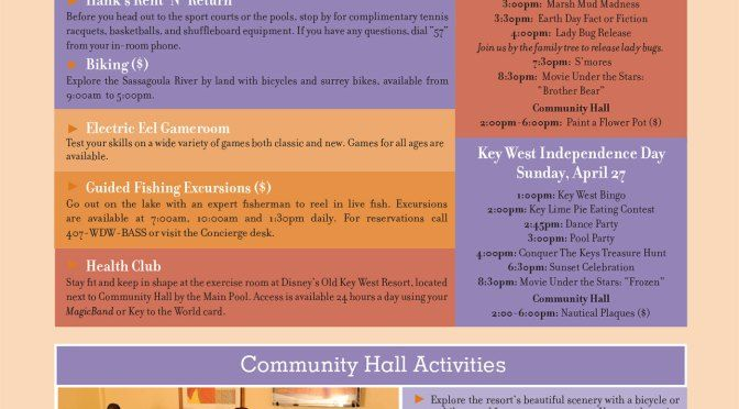 Old Key West Resort Recreation Activity Guide